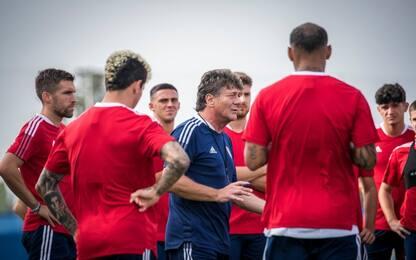 Cagliari, Mazzarri ha diretto il primo allenamento