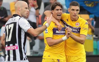 La Viola vince a Udine. Ok anche Empoli e Sassuolo
