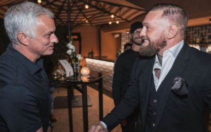 McGregor-Mou, cena e maglia della Roma in regalo