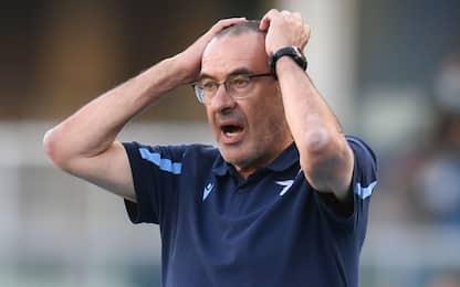 """Lazio in ritiro. Sarri: """"Prova inaccettabile"""""""