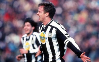 ITALY - JANUARY 25:  ITALIENISCHE LIGA 97/98; UDINESE - VICENZA 3:0; JUBEL Oliver BIERHOFF  (Photo by Andreas Rentz/Bongarts/Getty Images)
