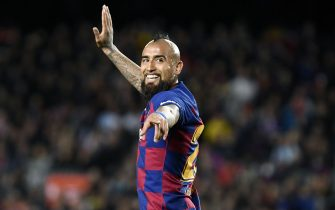 Arturo Vidal of FC Barcelona  during the La Liga match, date 27, between FC Barcelona and Real Sociedad at Camp Nou Stadium on March 7, 2020 in Barcelona, Spain.