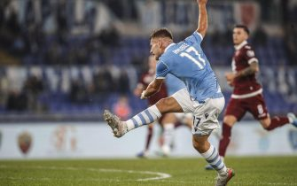 Lazio's Ciro Immobile in action during the Italian Serie A soccer match between SS Lazio vs FC Torino at the Olimpico stadium in Rome, Italy, 30 October 2019. ANSA/GIUSEPPE LAMI