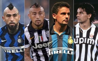 Da Vidal a Baggio, i doppi ex di Juve e Inter