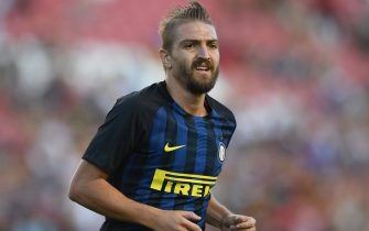 SANDY, UT - JULY 19:  Caner Erkin of FC Internazionale in action during the friendly match played between Real Salt Lake and FC Internazionale at Rio Tinto Stadium on July 19, 2016 in Sandy, United States.  (Photo by Claudio Villa - Inter/FC Internazionale via Getty Images)