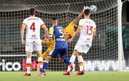 Verona cuore e grinta, Roma battuta 3-2 in rimonta