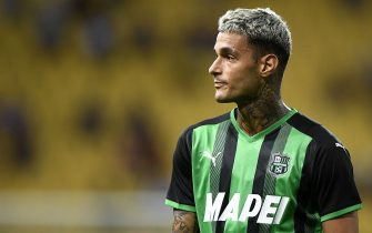 PARMA, ITALY - August 01, 2021: Gianluca Scamacca of US Sassuolo looks on during the pre-season friendly football match between Parma Calcio and US Sassuolo. US Sassuolo won 3-0 over Parma Calcio. (Photo by Nicolò Campo/Sipa USA)