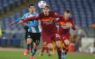ITALIAN SERIE LEAGUE A 2021 SOCCER MATCH: AS ROMA VS NAPOLI, ROME, ITALY - 21 MARCH 2021
