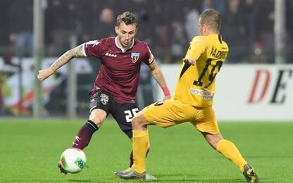 Lombardi risponde Scamacca: Salernitana-Ascoli 1-1