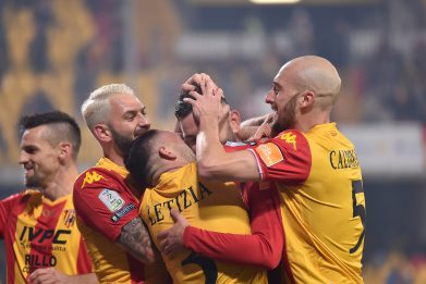 Benevento show, Trapani demolito 5-0