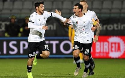 Lo Spezia mette la quinta, Ascoli ko e 2° posto