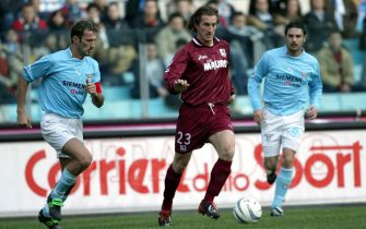 ROME - JANUARY 26:  Aimo Diana of Reggina in action during the Serie A match between Lazio and Reggina, played at the Olympic Stadium, Rome, Italy on January 26, 2003.  (Photo by Grazia Neri/Getty Images)