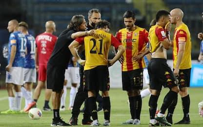 Serie B,  Benevento rinvia la festa: pari a Empoli