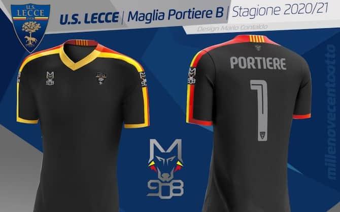 Lecce, seconda maglia: inseriti tutti i nomi dei comuni della provincia.  FOTO | Sky Sport
