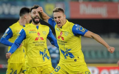 Chievo, 2-1 all'Entella: è sesto. Crisi Frosinone