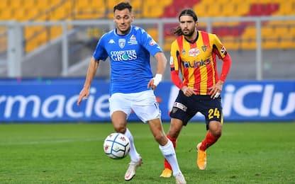Pari Lecce-Empoli, Spal ripresa nel finale