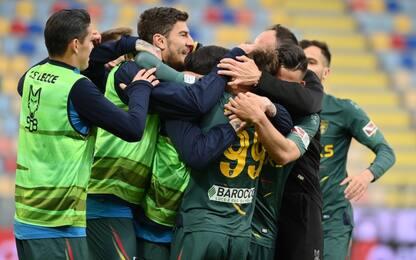 Crollo Monza, il Lecce vince ed è secondo