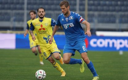 Frenata Empoli, con il Chievo finisce 2-2