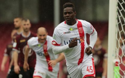 Balotelli show a Salerno, l'Entella retrocede in C