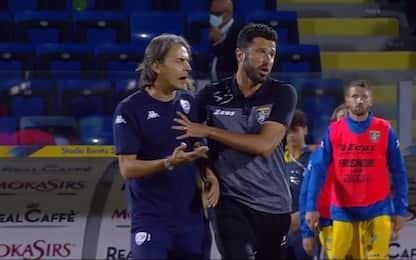 Inzaghi e Grosso, tensione dopo Frosinone-Brescia