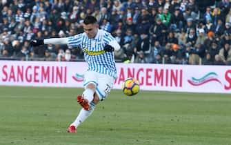 Spal's Federico Viviani scores the goal during the Italian Serie A soccer match S.P.A.L. 2013 vs Torino FC at Paolo Mazza stadium in Ferrara, Italy, 23 December 2017.ANSA/SERENA CAMPANINI