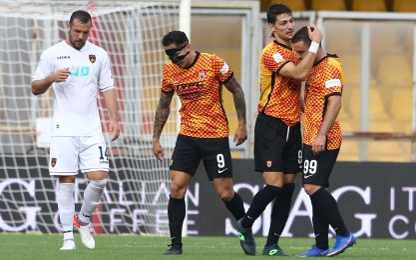 Il Benevento torna a vincere, colpo Monza al 92'