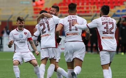 Serie C, i risultati: la Reggina torna al successo