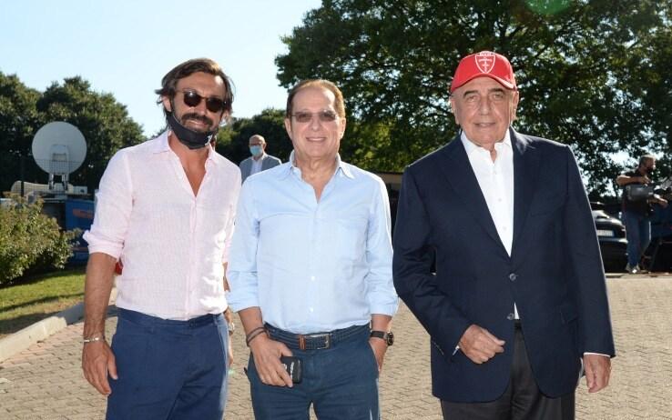 Pirlo, Galliani e Paolo Berlusconi
