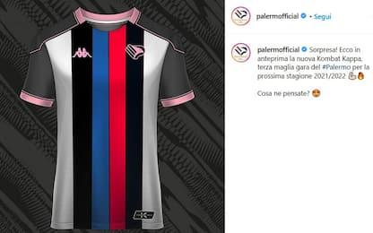 """Palermo, scherzo ai tifosi: maglia """"stile Catania"""""""