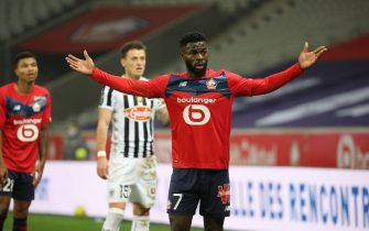 Jonathan BAMBA 7 LOSC during the French championship Ligue 1 football match between Lille LOSC and SCO Angers at the Pierre Mauroy Stadium in Villeneuve-d'Ascq, near Lille, nothern France, on January, 6th,2021//SANSONLAURENT_1743.2408/2101071304/Credit:LAURENT SANSON/SIPA/2101071309