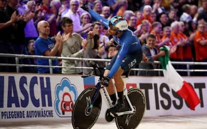 Mondiali su pista, Ganna infinito: record e 4° oro