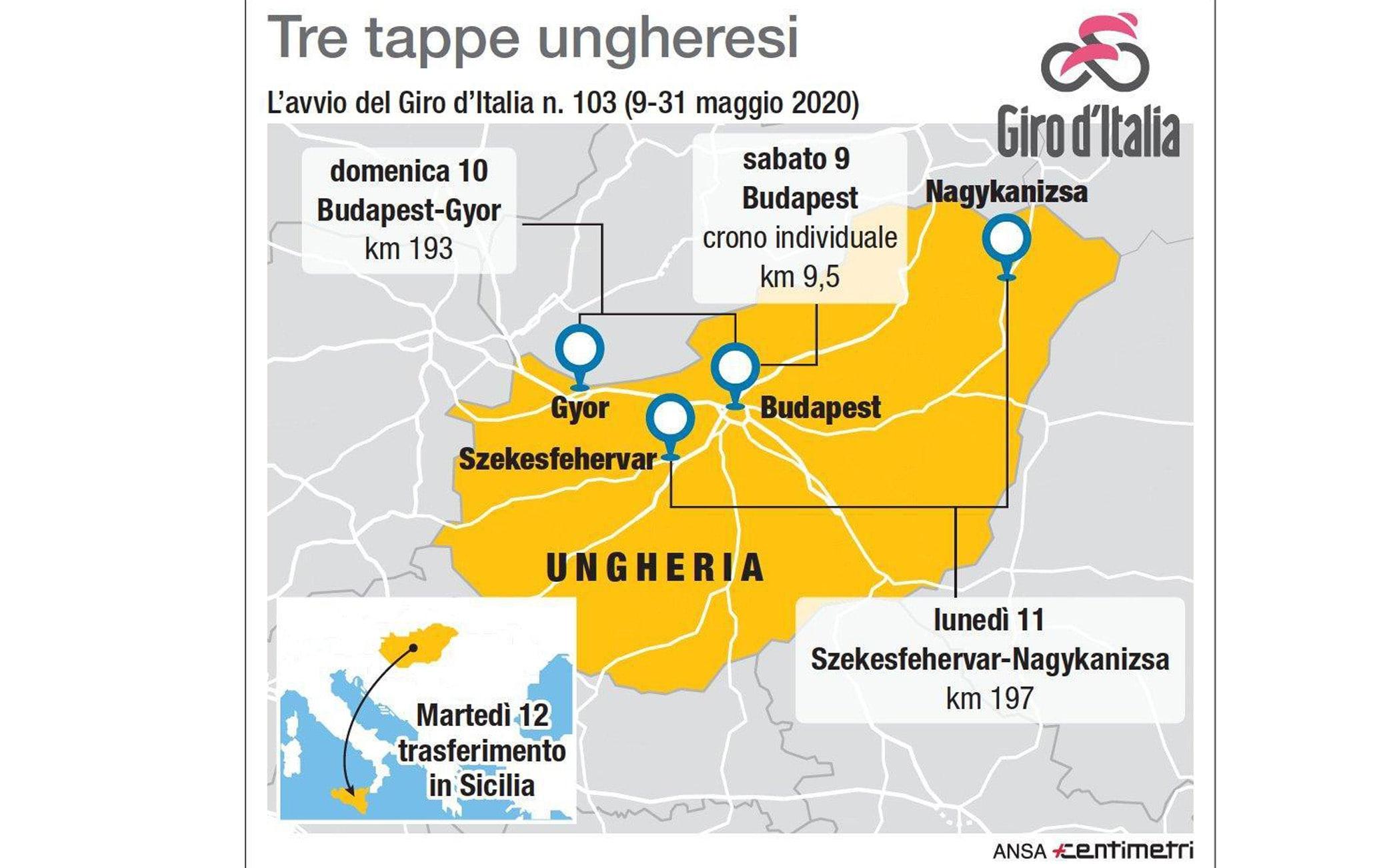 Giro d'Italia 2020, un politico ungherese annuncia: cancellata la Grande Partenza