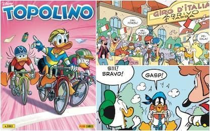 Il Giro d'Italia è su Topolino