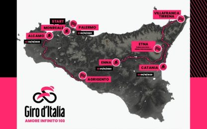Giro d'Italia 2020, il nuovo percorso: le tappe