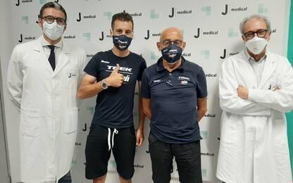 """Nibali, mano ok dopo la caduta: """"Nessuna frattura"""""""