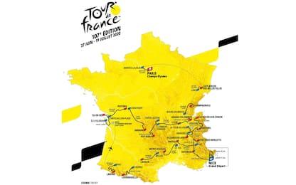 Il Tour parte oggi da Nizza: ecco le 21 tappe