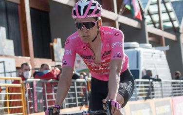 Dutch rider Wilko Kelderman of Team Sunweb crosses the finish line of the 20th stage of the 2020 Giro d'Italia cycling race over 190km from Alba to Sestriere, Italy, 24 October 2020. ANSA/LUCA ZENNARO