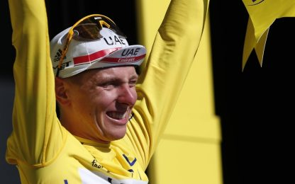 Van Aert vince cronometro, Pogacar in giallo
