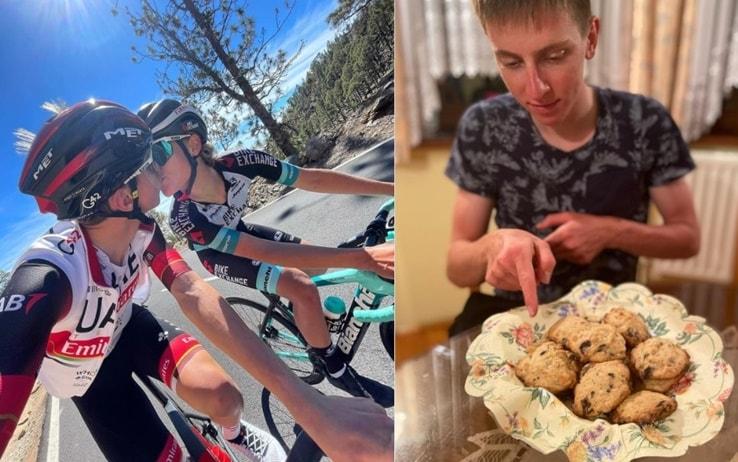 Tadej e la fidanza Urska, anche lei campionessa di ciclismo