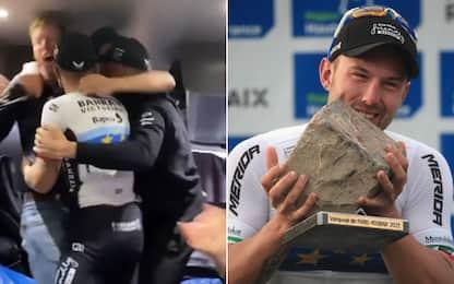 """Colbrelli, che festa per la Roubaix: """"Incredibile"""""""
