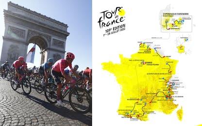 Tour de France 2022, il percorso e le tappe
