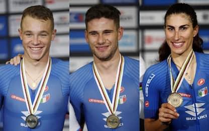 Italia: argento per Milan, bronzo Ganna e Balsamo