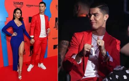 Ronaldo e Georgina superstar agli Mtv Awards. FOTO