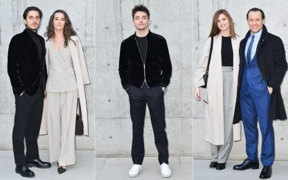 Leclerc superstar alla Milano fashion week. FOTO