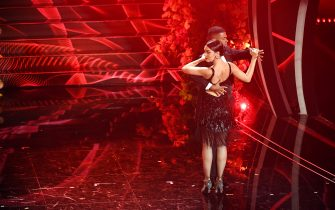 SANREMO, ITALY - FEBRUARY 06: Georgina Rodriguez attends the 70° Festival di Sanremo (Sanremo Music Festival) at Teatro Ariston on February 06, 2020 in Sanremo, Italy. (Photo by Daniele Venturelli/Daniele Venturelli/Getty Images )