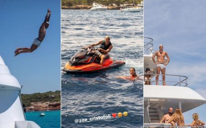 """Theo Hernandez """"show"""" a Ibiza con la fidanzata Zoe"""