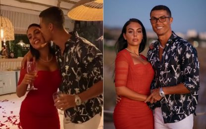 CR7 e Georgina, una festa per il loro amore. VIDEO