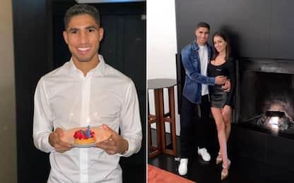 Hakimi, festa a sorpresa per il suo compleanno