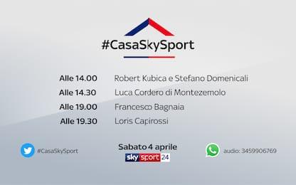 #CasaSkySport: gli ospiti di sabato