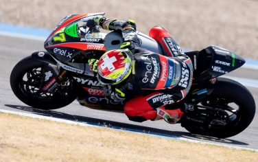 JEREZ DE LA FRONTERA, SPAIN - JULY 24: Dominique Aegerter of Swiss and Dynavolt Intact GP (MotoE rider) rounds the bend during the MotoGP of Andalucia - Free Practice at Circuito de Jerez on July 24, 2020 in Jerez de la Frontera, Spain. (Photo by Mirco Lazzari gp/Getty Images)